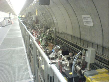 A view of the accelerator tunnel at FLASH